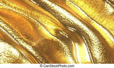 skóra, gotowy, pętla, złoty, tło.