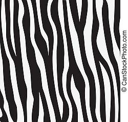 skóra, struktura, abstrakcyjny, zebra, wektor
