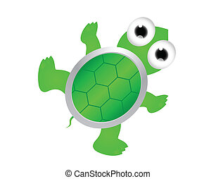 sköldpadda, söt, tecknad film