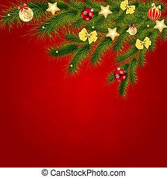 skönhet, abstrakt, illustration, bakgrund., vektor, år, färsk, jul