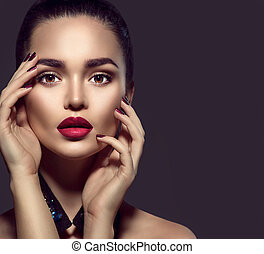 perfekt kvinna brunett