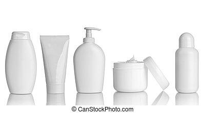 skönhet, hygien, behållare, rör, hälsa varsamhet
