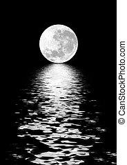 skönhet, måne