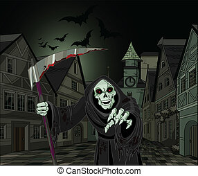 skördeman, halloween, hård