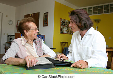 sköta, äldre medborgare