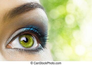 skønhed, øje