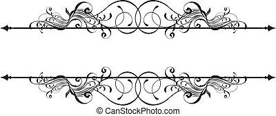 skønhed, ornamental, banner