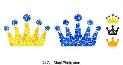 skład, ikona, koło, korona, kropkuje