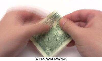 składany, dolar, pomyłka, -, samolot, czas