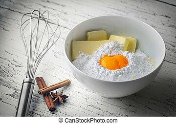 składniki, słodki, jakiś, wyroby cukiernicze, swojski