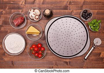 składniki, swojski, pizza