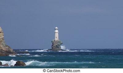 skała, latarnia morska