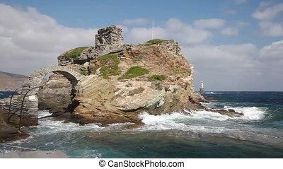skała, morze, latarnia morska