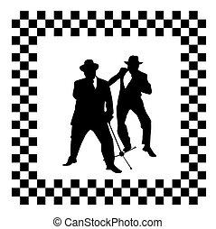 ska band logo - abstract skaband logo design