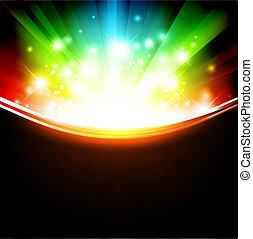 skabelon, multicolored, ferie, stjerner, lysende