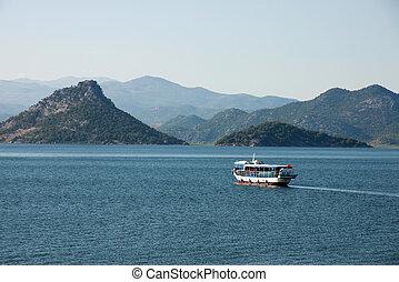 Panoramic view of Skadar lake in Montenegro