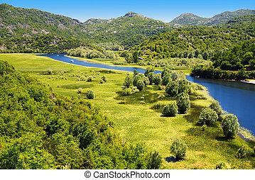 Skadarsko jezero, Montenegro, the largest lake in the...