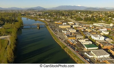 Skagit River Mt. Vernon Washington Downtown - Viewer flows...
