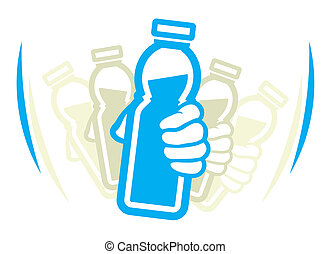 skaka, flaska, av, yoghurt, för, använda