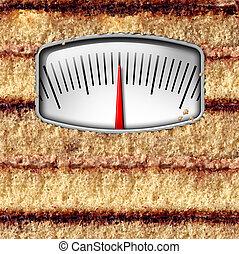 skala, diät, gewicht