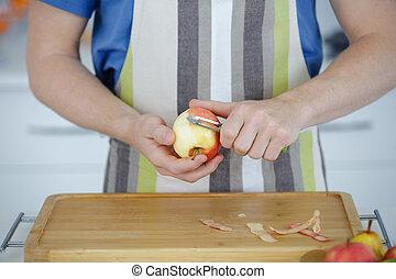 skalande, äpple