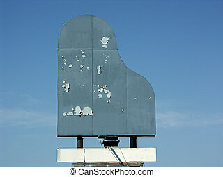 skalande,  Piano, Format,  billborad, underteckna