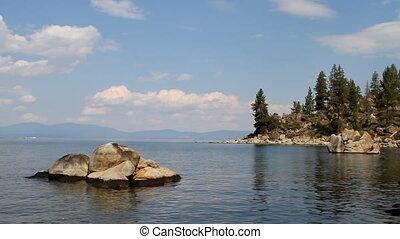 skalisty, zatoczka, tahoe, jezioro