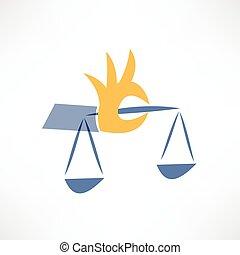 skalpy, sprawiedliwość, ikona
