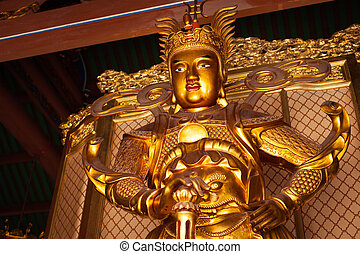 skanda, bodhisattva, standbeeld