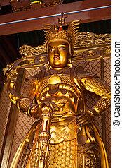 Skanda bodhisattva statue in Tian Wang Dian (Hall of...