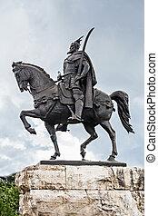 skanderberg, staty