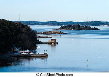 skandinavisch, landschaftsbild