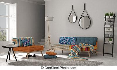 Aufenthaltsraum minimalist modern bunte minimalist for Bunte sessel