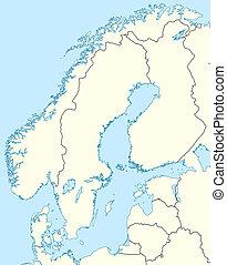 skandynawia, mapa