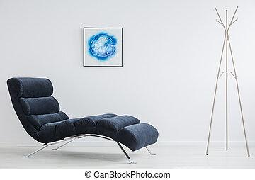 skapande, affisch, in, vita rum