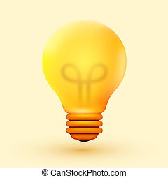 skapande, idé, inspiration, concept., ljus kula, innovation.
