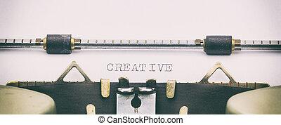 skapande, ord, in, huvudstad, breven, vita, ark