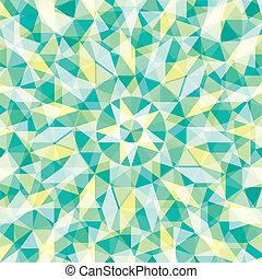 skapande, triangulär, design, mönster