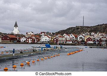 Skarhamn in Sweden in winter