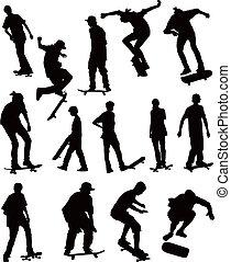 Skate board collection - Skate board black silhouettes...