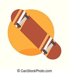 Skate Board Emblem Extreme Sport Vector Illustration Graphic