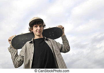 skate boarder portrait
