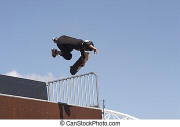 Skate Boarder - Skateboarder aerial