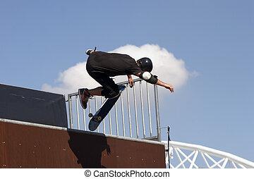 Skate Boarder - Skateboarder airborne