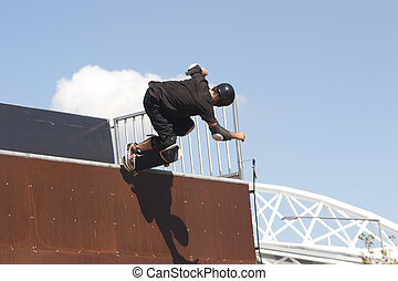 Skate Boarder on a wave