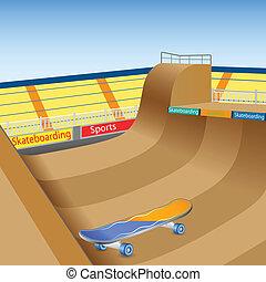 Skate Boarding - vector illustration of skate boarding...