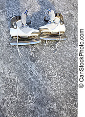 skate ice skates outdoors winter