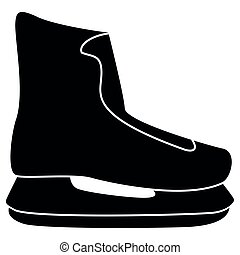 Skate icon black color illustration flat style simple image
