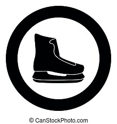 Skate icon black color vector illustration simple image