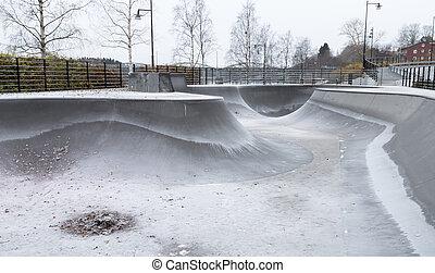 Skate Park in Autumn
